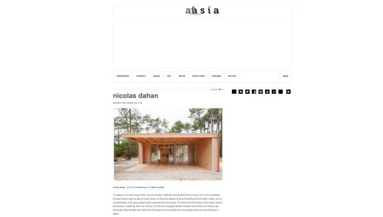Nicolas Dahan, Press and Awards, Afasia