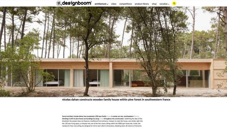 Nicolas Dahan, Press and Awards, Designboom