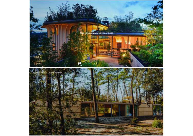 Nicolas Dahan, Press and Awards, Archello Top 10 Wooden Projects of 2020: Wooden Villa Project Selected.
