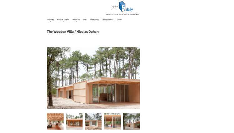 Nicolas Dahan, Press and Awards, Archdaily