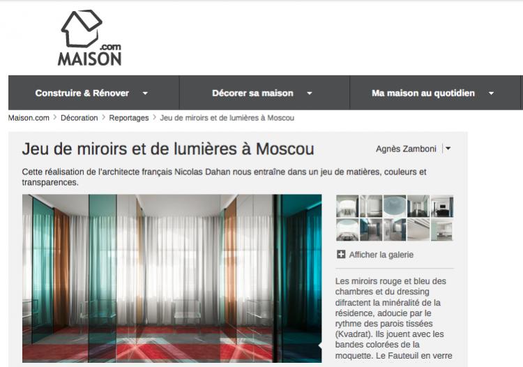 Nicolas Dahan, Press and Awards, Maison.com