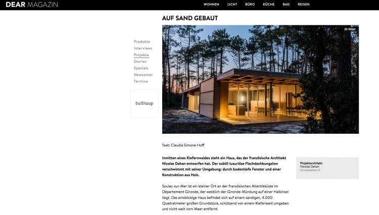 Nicolas Dahan, Press and Awards, Dear Magazine