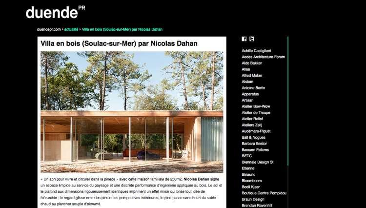 Nicolas Dahan, Press and Awards, Duende PR