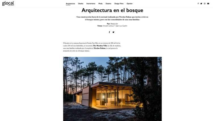 Nicolas Dahan, Press and Awards, Glocal Design Magazine