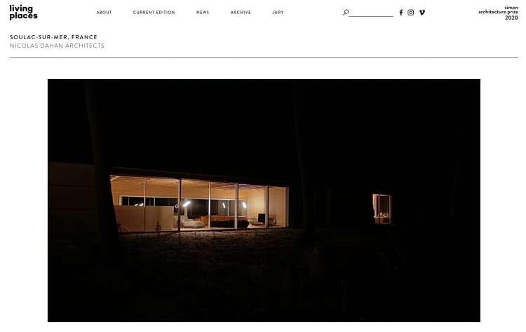 Nicolas Dahan, Press and Awards, Simon Architecture Prize 2020 Film Nomination