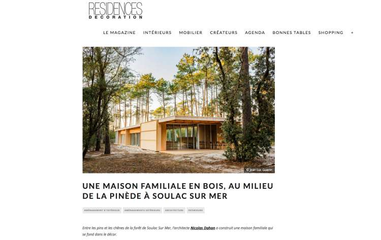 Nicolas Dahan, Press and Awards, Résidences Décoration