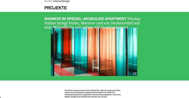 Nicolas Dahan, Press and Awards, Baunetz-id